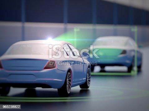 istock Vehicle autonomous driving technology 965238822