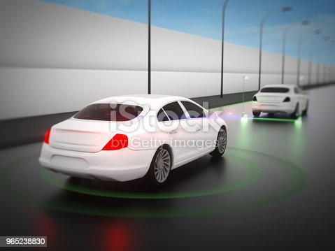 istock Vehicle autonomous driving technology 965238830