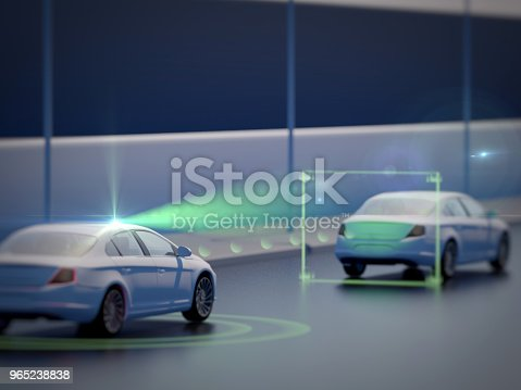 istock Vehicle autonomous driving technology 965238838