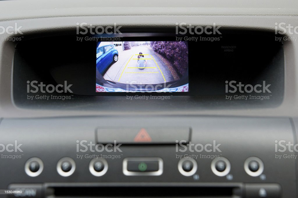 Vehículo de display de la parte posterior de cámara en el salpicadero - Foto de stock de Accidente de automóvil libre de derechos