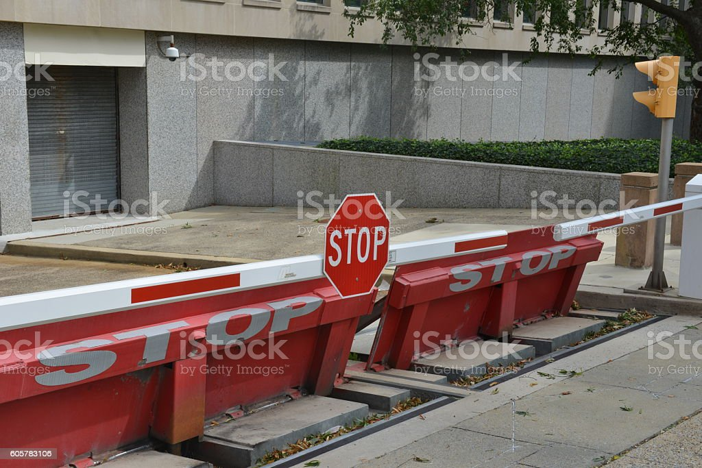 Vehicle Barrier stock photo