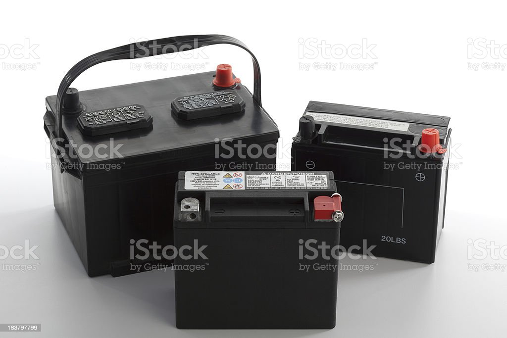 Vehicle Batteries stock photo