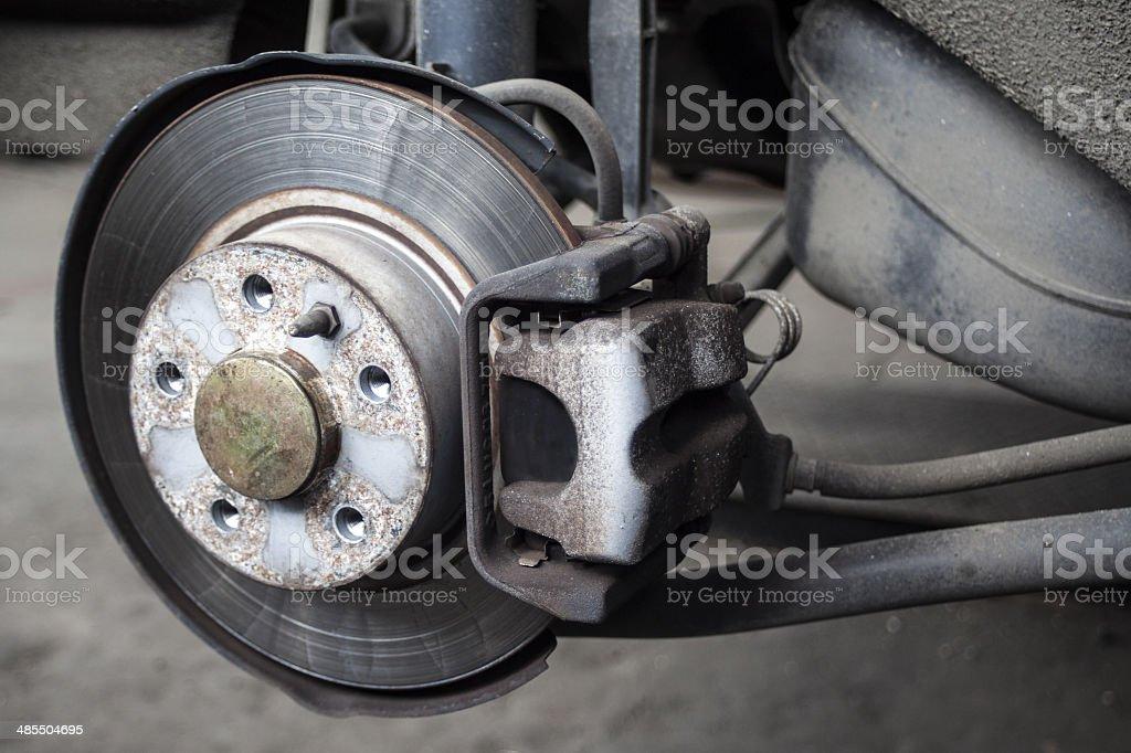 Vehicle brake stock photo