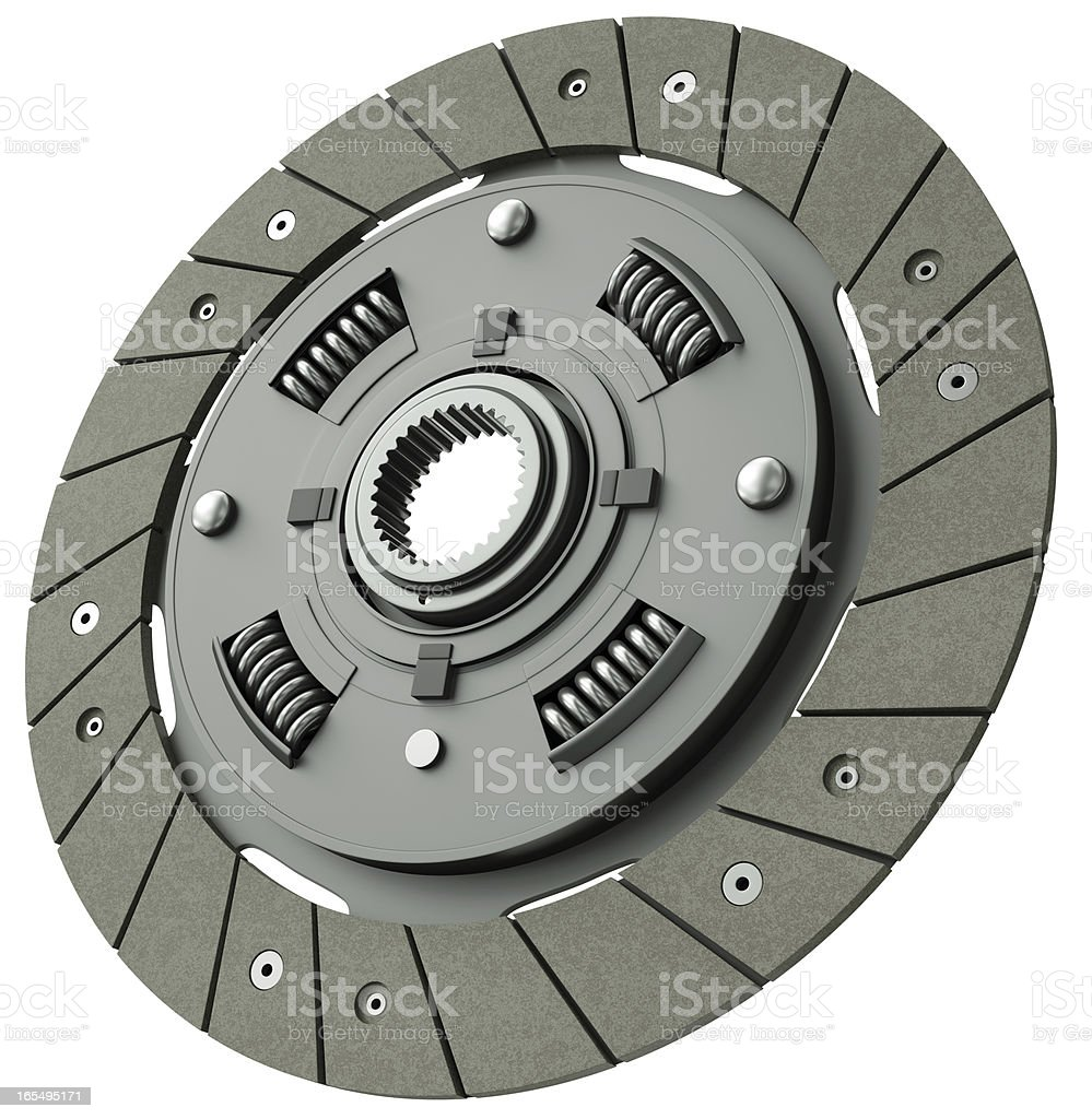 Vehicle clutch plate isolated on a white background stock photo