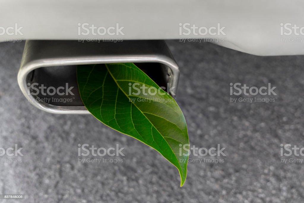 Vehicle Greenhouse Gas Emissions stock photo