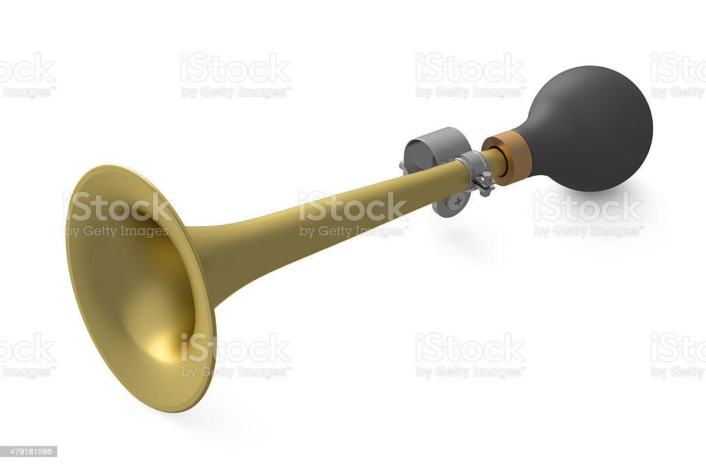 vehicle horn or klaxon closeup stock photo