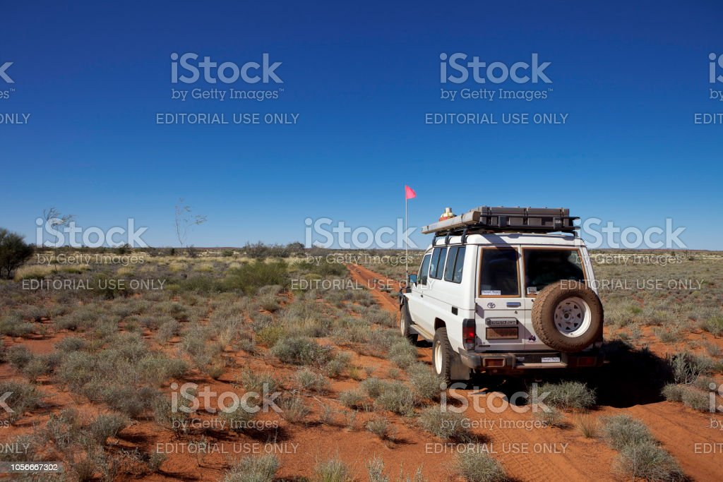 4WD vehicle in outback Western Australia. stock photo