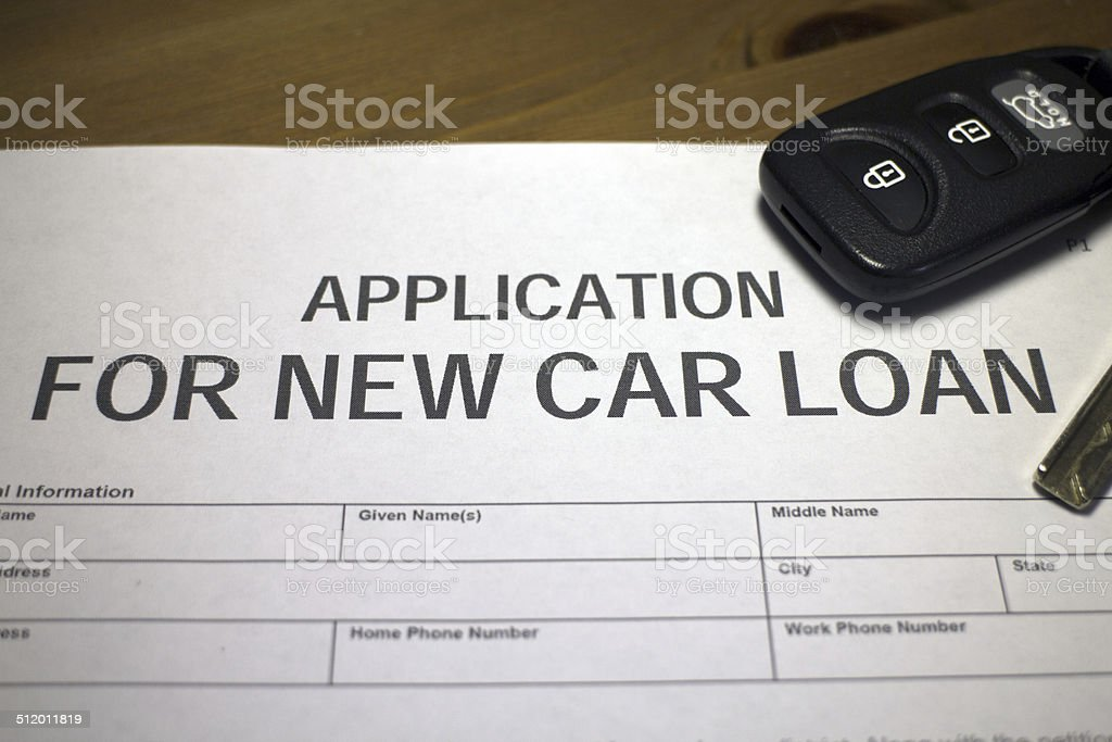Vehicle loan - Royalty-free Agreement Stock Photo