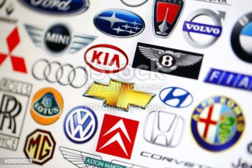 istock Vehicle manufacturer logos 458965639