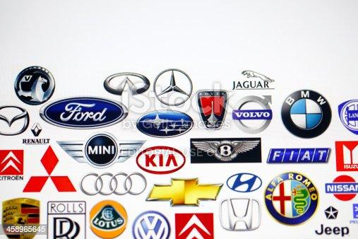 istock Vehicle manufacturer logos 458965645
