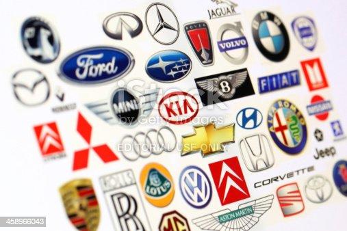 istock Vehicle manufacturer logos 458966043
