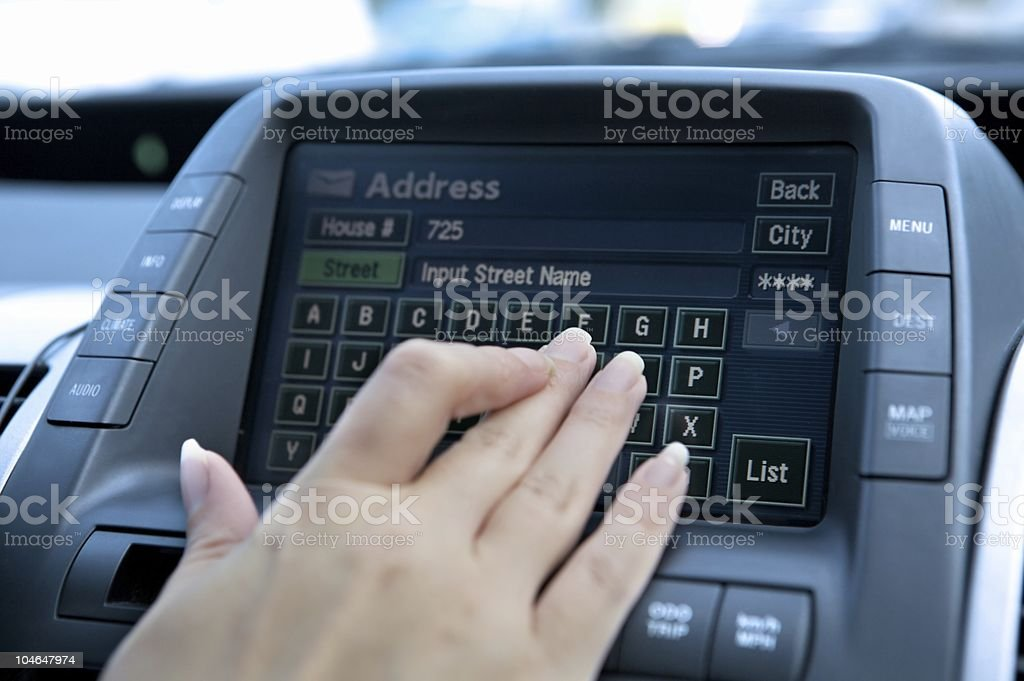 Vehicle Navigation System royalty-free stock photo