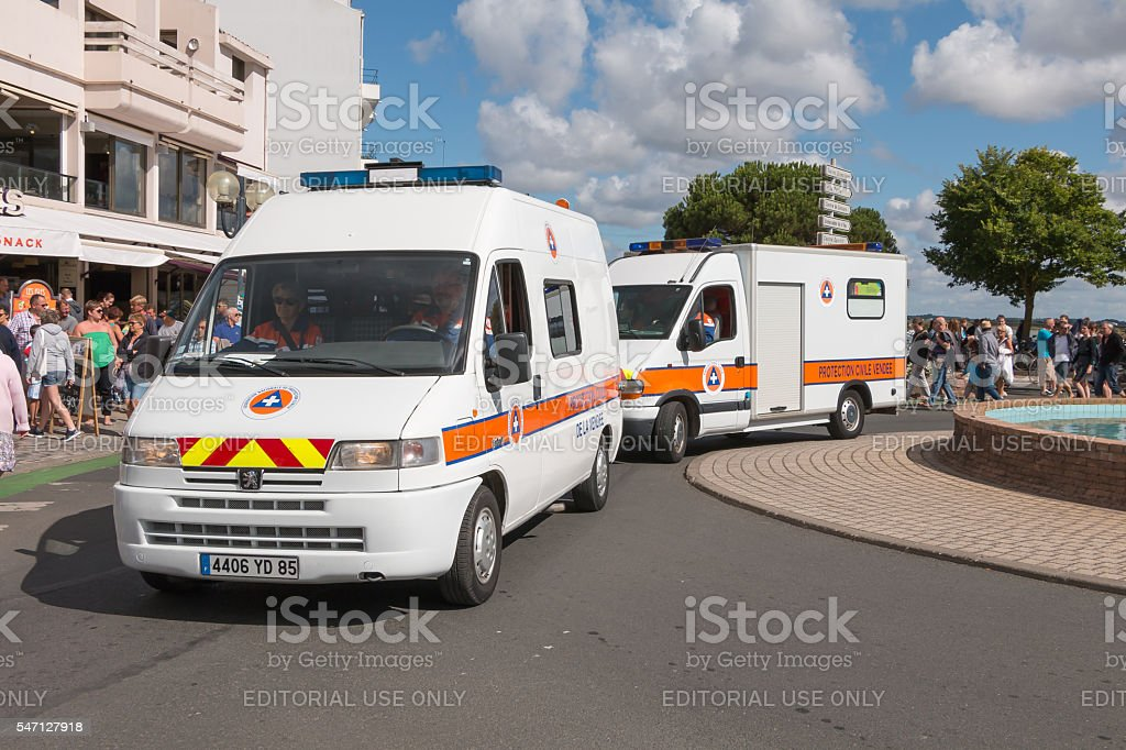 vehicle of the French civil protection during a parade - Photo