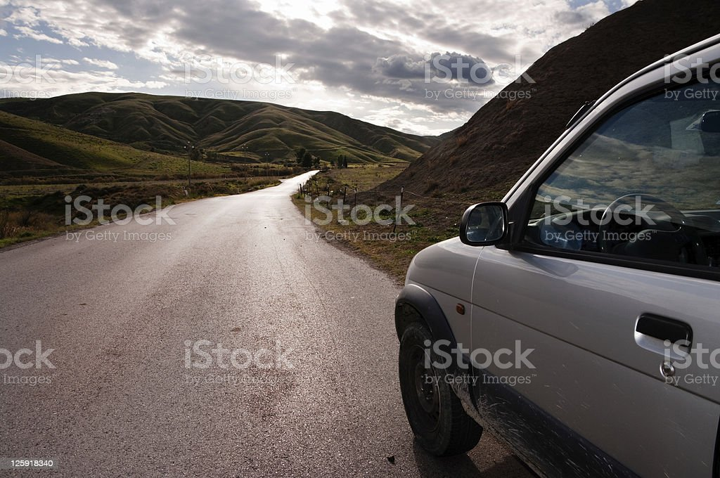 vehicle on country road royalty-free stock photo