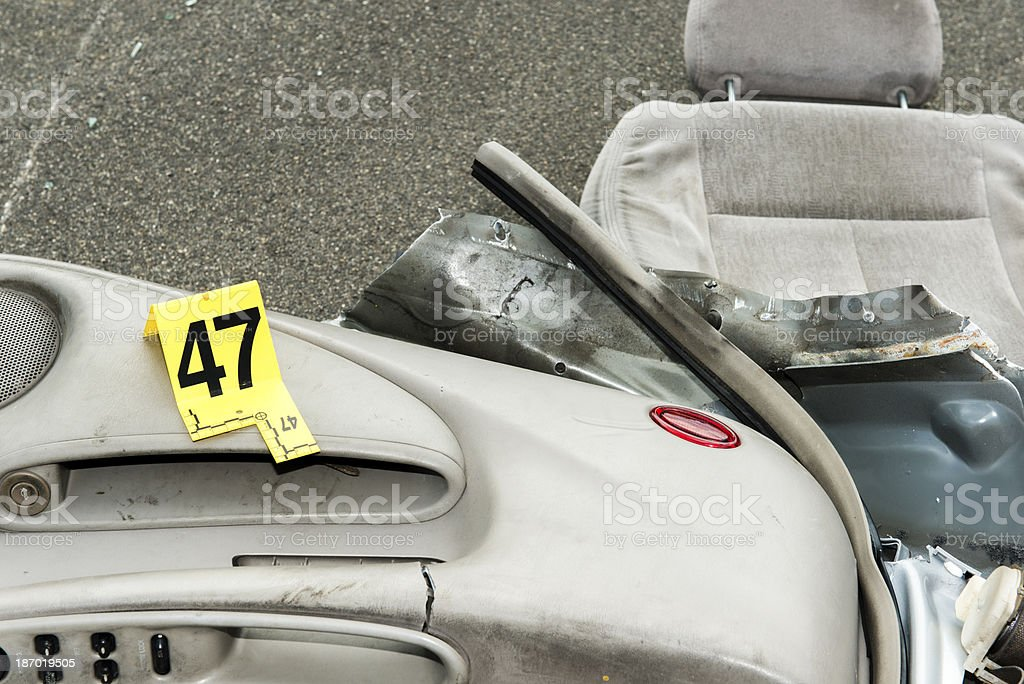 Vehicle Parts on Roadway royalty-free stock photo