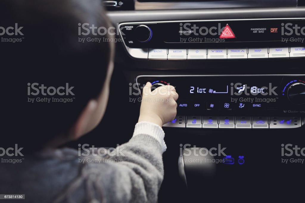 Vehicle proper temperature stock photo