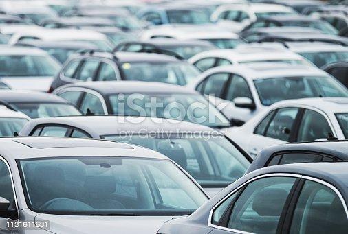 Hundreds of vehicles await recall/processing.