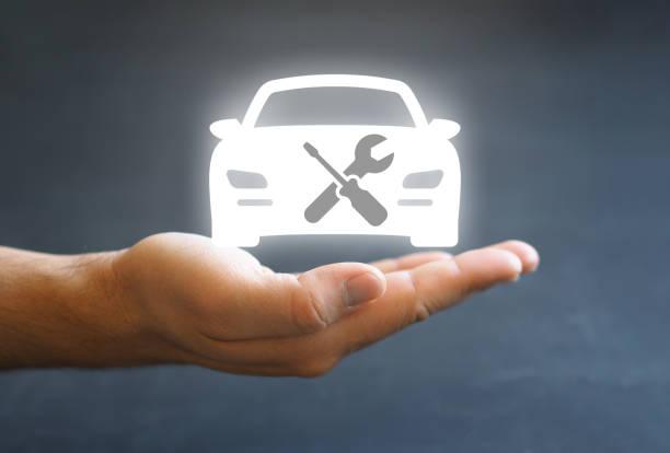 vehicle repair maintenance concept photo stock photo