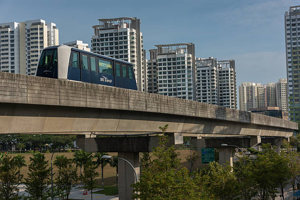 LRT vehicle running towards Fernvale – Foto