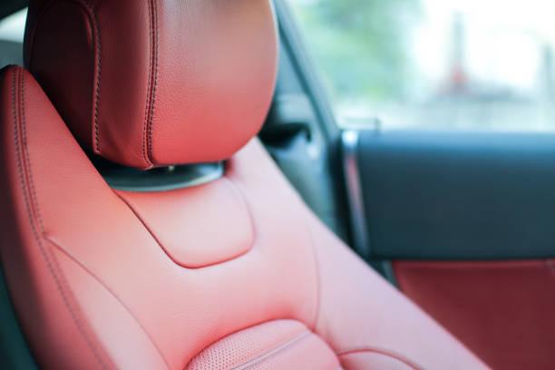 fahrzeugsitz - kopfstütze stock-fotos und bilder