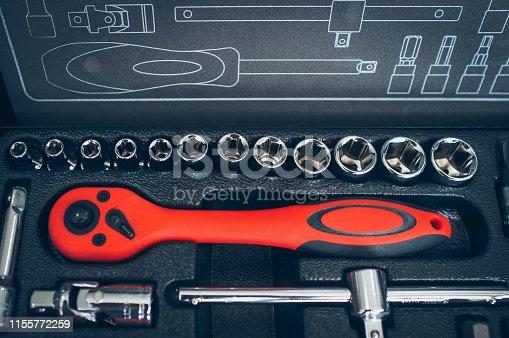 1155772265 istock photo vehicle service station box wrench tools set 1155772259