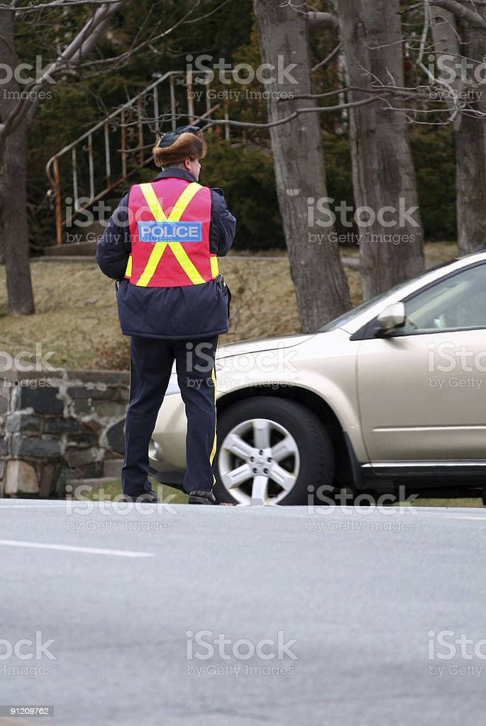 Vehicle Spot Checking stock photo