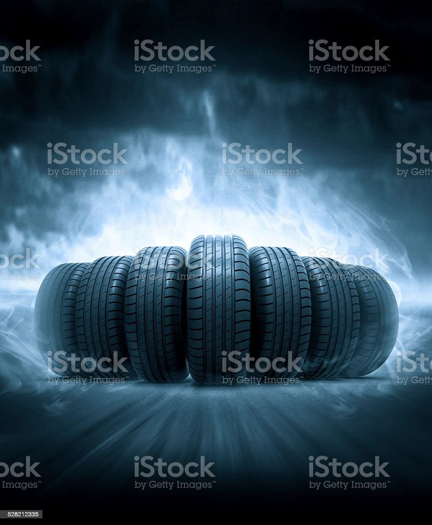 vehicle tires stock photo