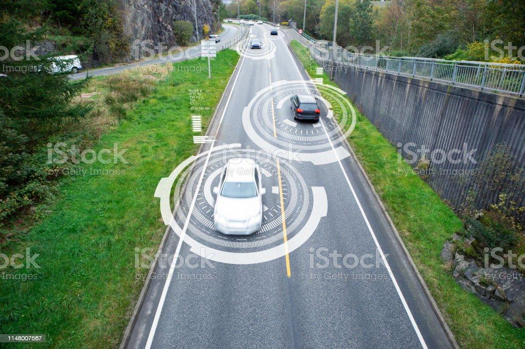 Comunicación de vehículo a vehículo - Foto de stock de Aire libre libre de derechos