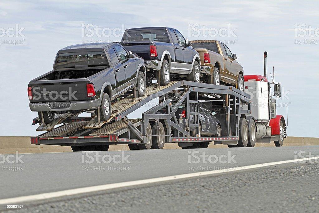 Vehicle Transporter stock photo