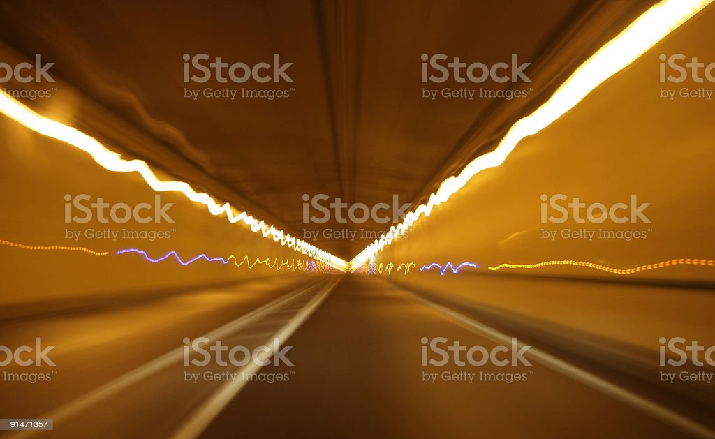 Vehicle tunnel at speed royalty-free stock photo