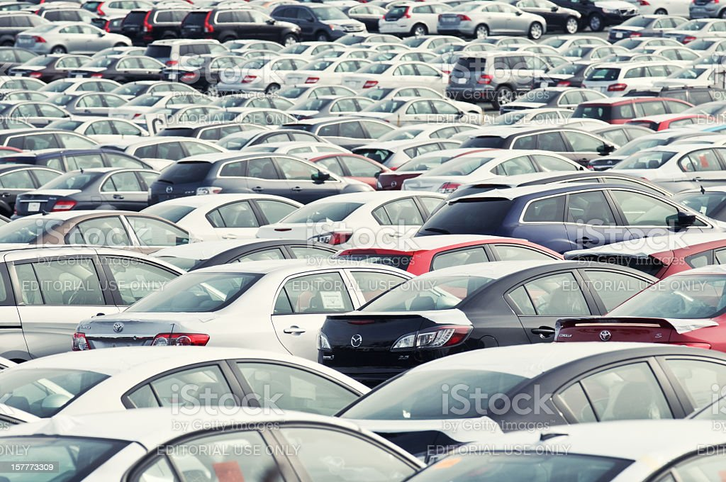Vehicles at the Autoport royalty-free stock photo