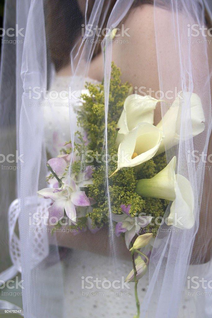 Veil bouquet royalty-free stock photo