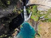 Velo de La Novia waterfall in Radal Siete Tazas National Park, Chile