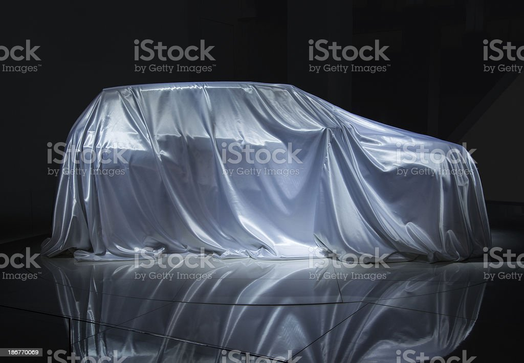 Veiled car stock photo