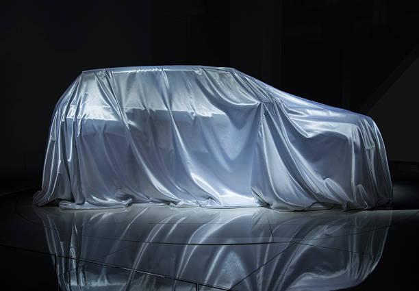 Veiled car stock photo