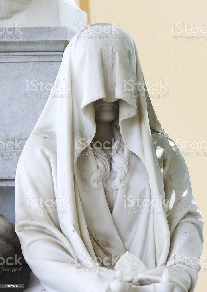 Veiled woman statue royalty-free stock photo