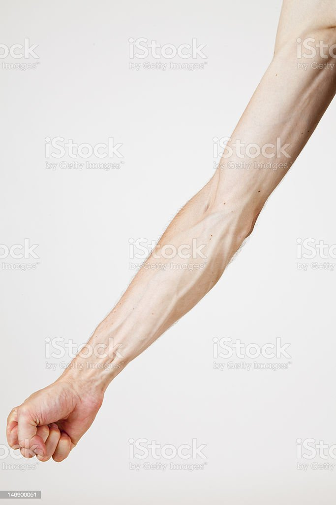 veins of a man royalty-free stock photo