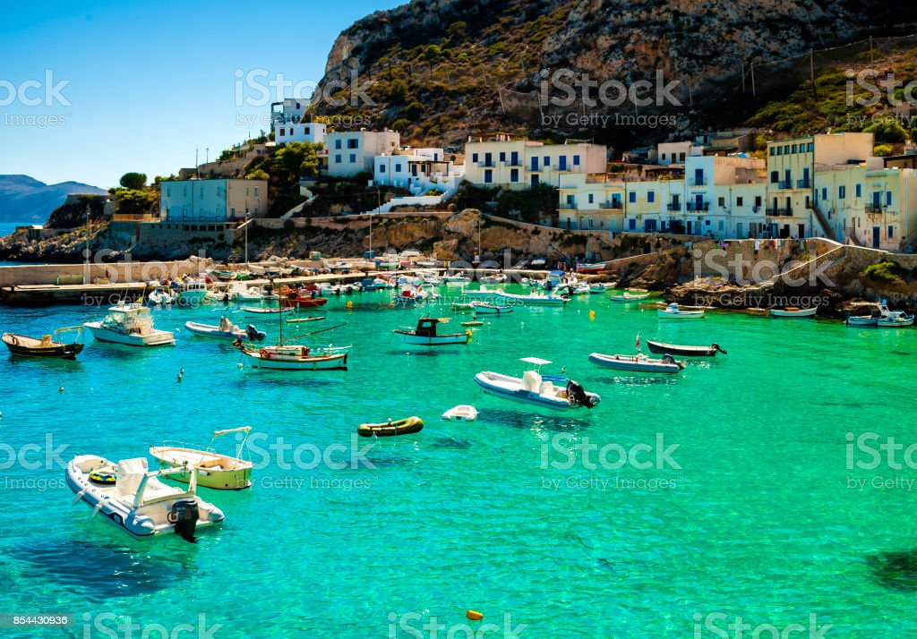 A veiw of Levanzo Island, Sicily, Italy stock photo