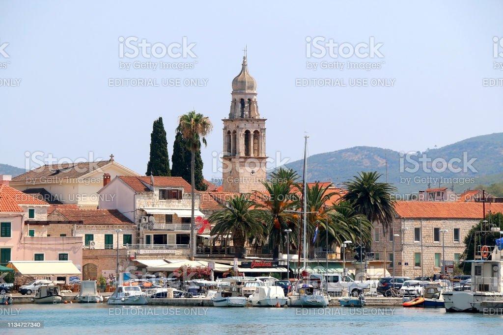 Vela Luka, Croatia stock photo