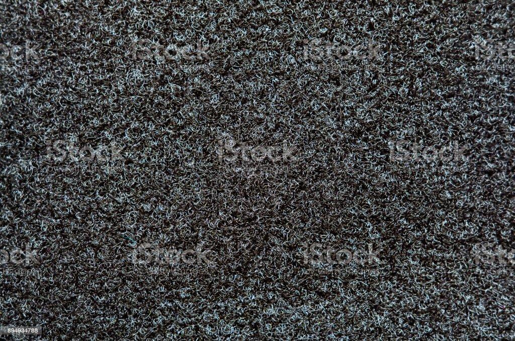 Velcro texture. Black fabric background. Extreme close-up. stock photo