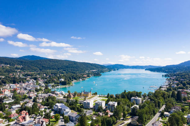 Velden at the Wörthersee in Carinthia, Austria stock photo