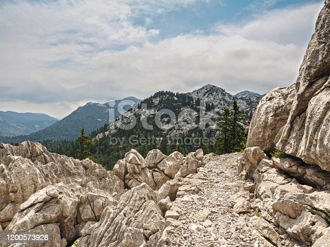 Abstract from Northern Velebit National Park, Croatia. UNESCO World Heritage Site. The Northern Velebit National Park is recognizable by its preserved biodiversity, richness of the natural phenomena and experience of pristine wilderness.
