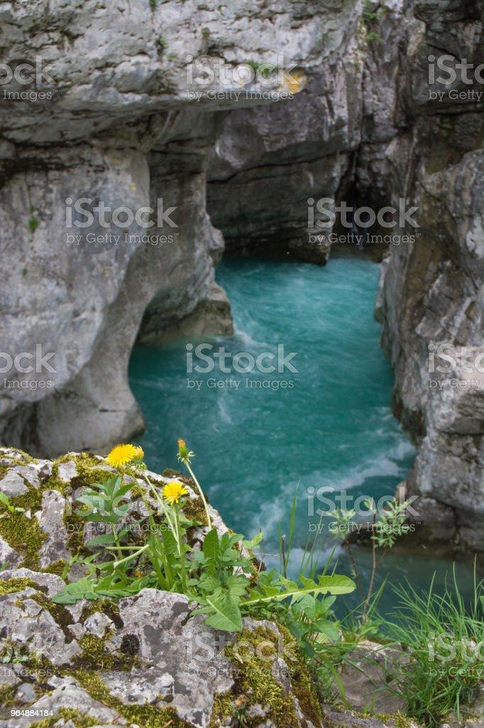 大摩拉 Korita 河 - 免版稅博韋茨鎮圖庫照片