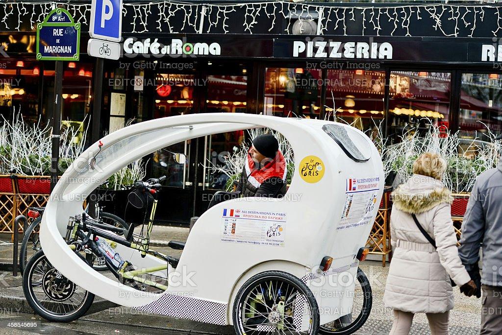 Velo Taxi for tourists on Paris Street royalty-free stock photo