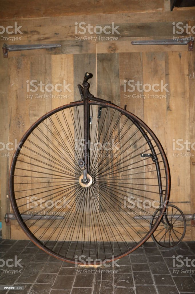 Velocipèd high wheel stock photo