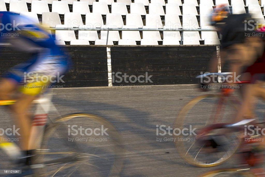Velodrome Bike Racing Team royalty-free stock photo