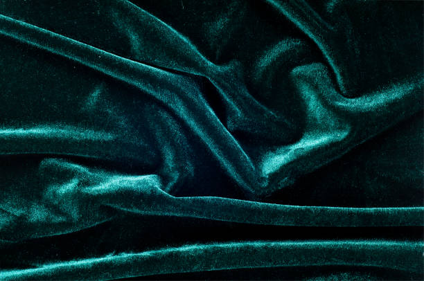 velor fabric texture, background, green stock photo