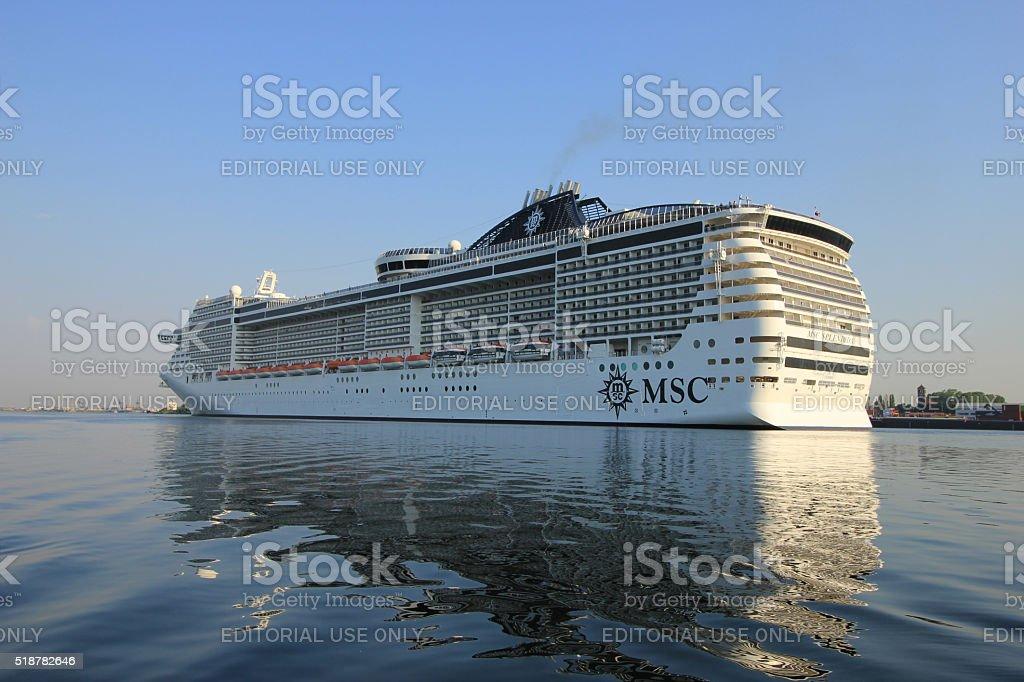 Velsen, The Netherlands - July 2nd, 2015: MSC Splendida stock photo