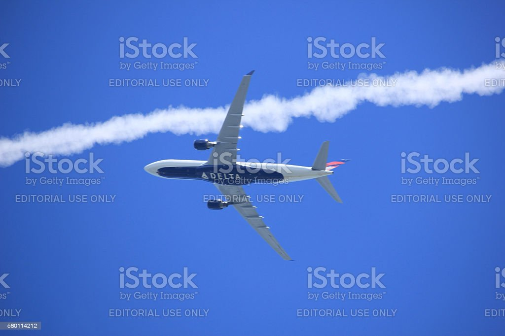 Velsen, the Netherlands - July, 6th 2016: Delta Airlines stock photo