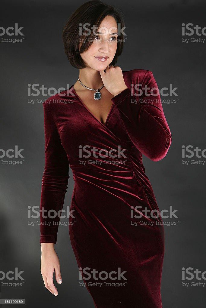 velvet dress royalty-free stock photo
